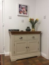 Country Oak Farmhouse 100cm Grey Painted Sideboard