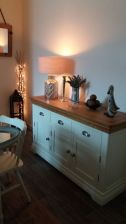 Customer photo 2 - Country Oak Farmhouse 140cm Cream Painted Sideboard