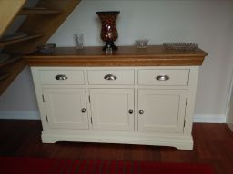 Customer photo 3 - Country Oak Farmhouse 140cm Cream Painted Sideboard