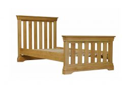 Farmhouse Country Oak 3' Single Bed Slatted Design