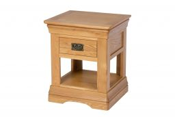 Farmhouse Oak 1 Drawer Lamp Table