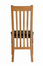 Chelsea Oak Dining Chair Black Leather Pad
