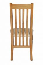 Chelsea Oak Dining Chair Cream Leather Pad
