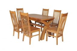 Chelsea Solid Rustic Oak Dining Chair