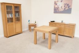 Lichfield Square Flip Top Oak Dining Table 90cm to 180cm