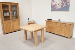 Lichfield Square Flip Top Oak Table 100cm x 50cm