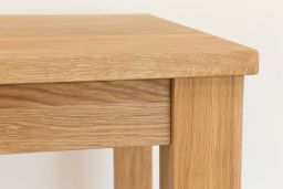 Minsk 80cm x 60cm 2 Seater Small Solid Oak Dining Table