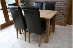 1.2m Minsk Solid Oak Dining Table