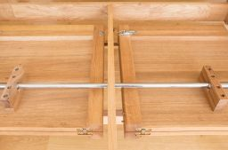Provence 280cm Large Double Extending Cross Leg Dining Table Oval End