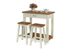 Tutbury Cream Painted Oak Kitchen Bar Stool