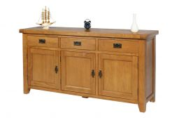 Farmhouse Country Oak 160cm Large Oak Sideboard