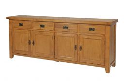 Country Oak 200cm Farmhouse Large Oak Sideboard