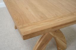 1.4m Country Oak Cross Leg Dining Table (Sq End)