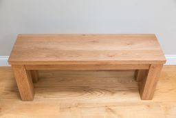 Wooden Bench 120cm Country Oak Standard Leg Chunky Rustic
