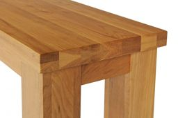 150cm Country Oak Chunky Rustic Wooden Dining Bench