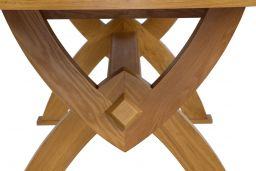 Monastery 300cm Large Solid Oak Extending Dining Table