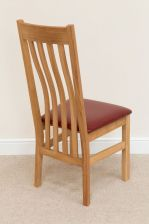 Winchester Red Leather Solid Oak Dining Chair
