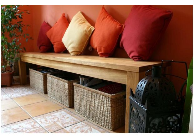 Baltic Premium 75cm Small Solid Oak Bench