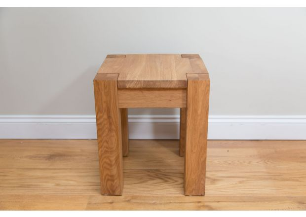 Baltic 40cm Small Solid European Oak Dining Bench Stool