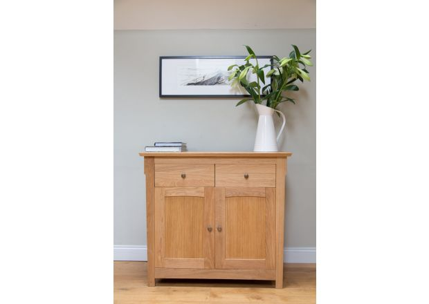 Baltic 100cm Wide Small Oak Sideboard - BLACK FRIDAY DEAL