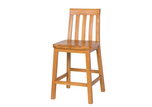Billy Gigante Large Oak Bar Stool with Solid Oak Seat
