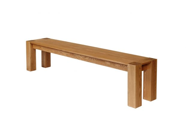 Cambridge 200cm Large Oak Bench - WINTER SALE