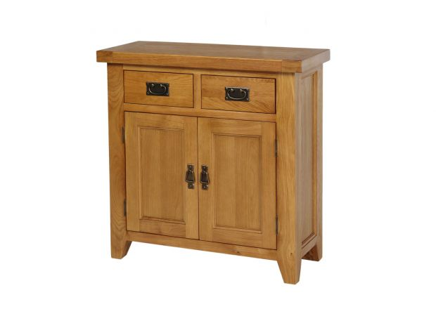 Small 80cm Country Oak Sideboard - JANUARY SALE