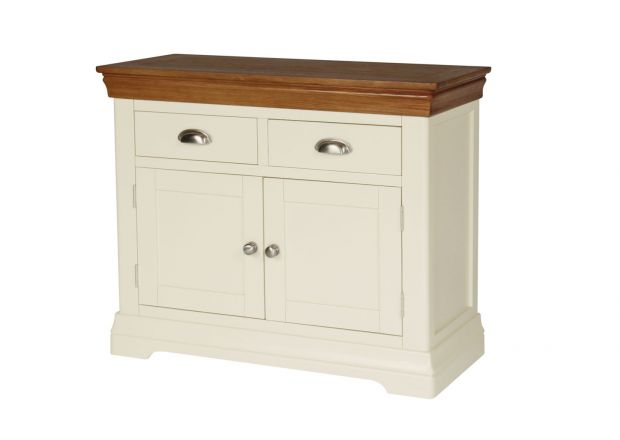 Farmhouse 100cm Cream Painted Oak Sideboard