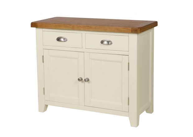 Country Cottage 100cm Cream Painted Oak Sideboard