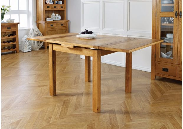 Country Oak 90cm to 160cm Extending Dining Table - WINTER SALE