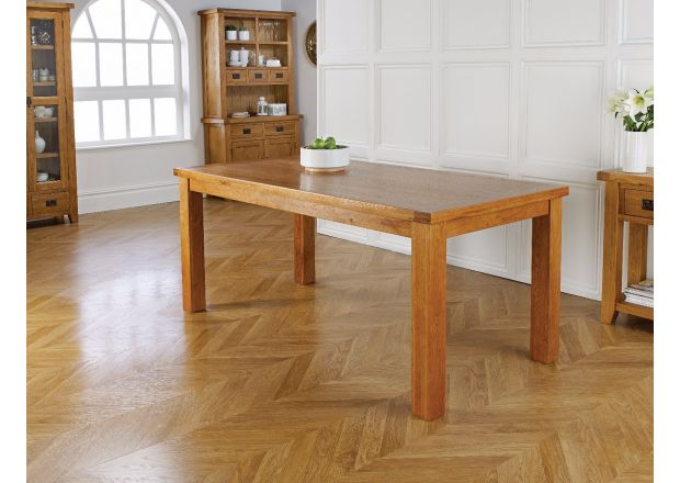 Country Oak 180cm Dining Table - WINTER SALE