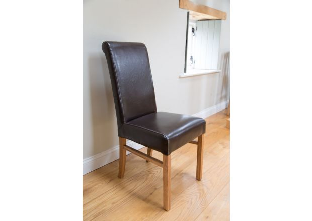 Emperor Dark Brown Leather Dining Chairs