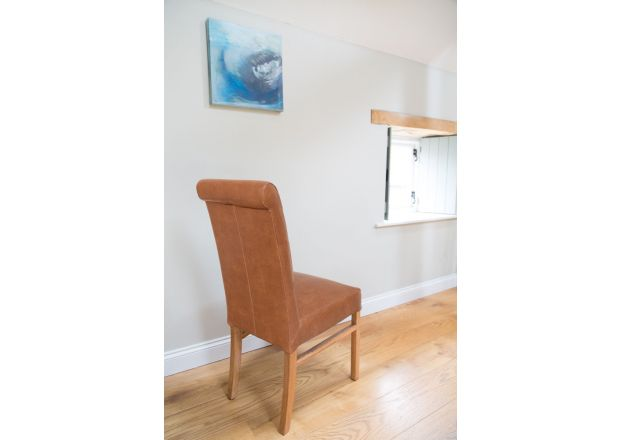 Emperor Mocha Brown Leather Dining Chairs - SPRING SALE