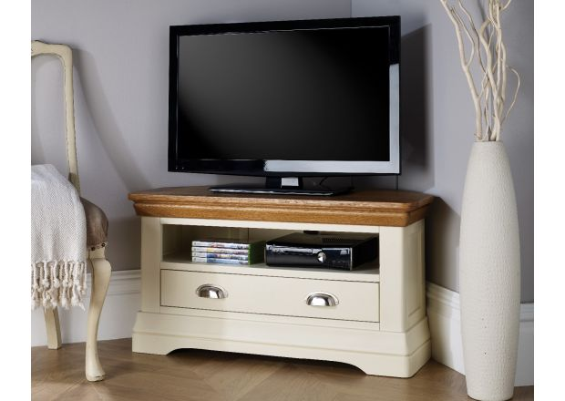 Farmhouse Cream Painted Corner TV Unit - JANUARY SALE
