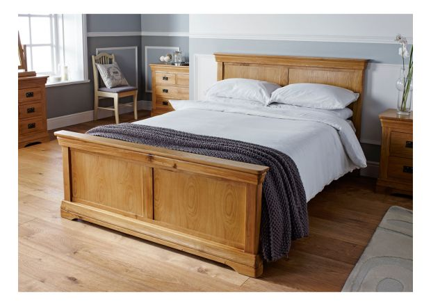 Farmhouse Country Oak Double Bed 4ft 6 inches