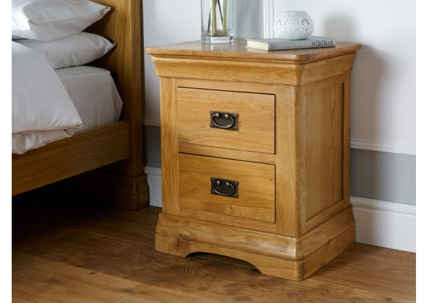 Farmhouse Country Oak Bedside Table - BLACK FRIDAY DEAL