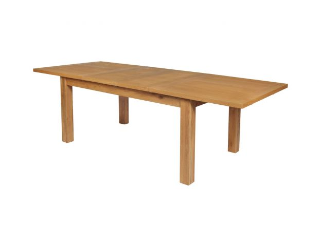 Lichfield 240cm Double Extending Oak Dining Table - SPRING SALE