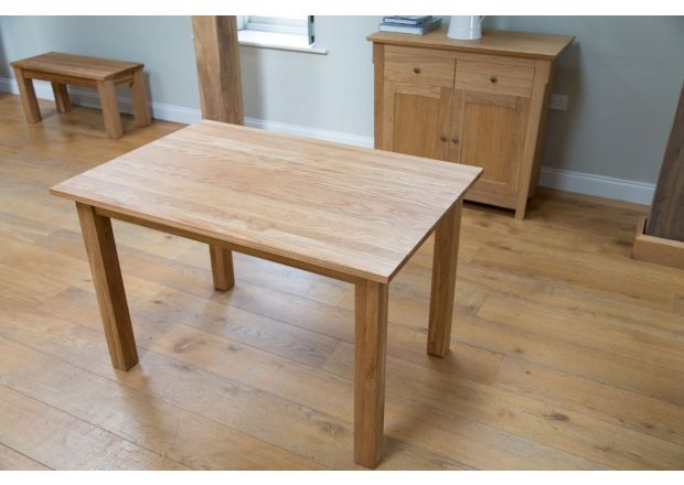 Minsk EU Made Solid Oak Dining Table 120cm