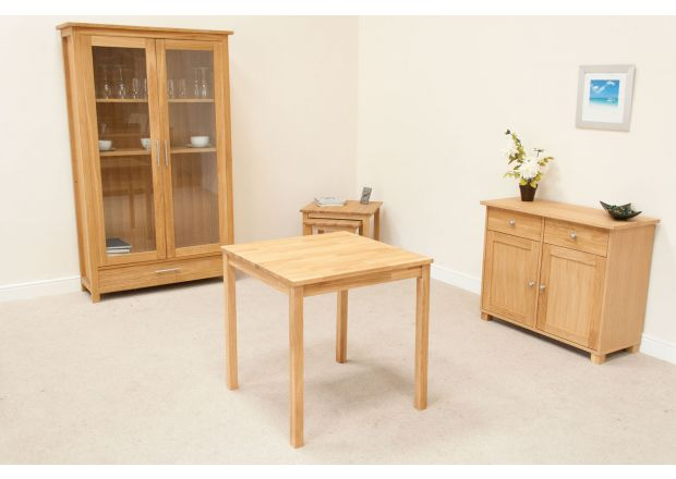 Minsk Petite 75cm EU Made Square Oak Dining Table - JANUARY SALE