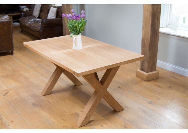 Provence 150cm EU MADE X Leg Oak Dining Table - JANUARY SALE