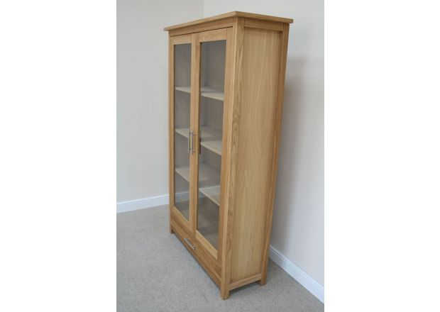 Baltic European Oak Tall Display Cabinet - SPRING SALE