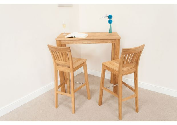 Minsk 100cm x 50cm Tall Oak Breakfast Table
