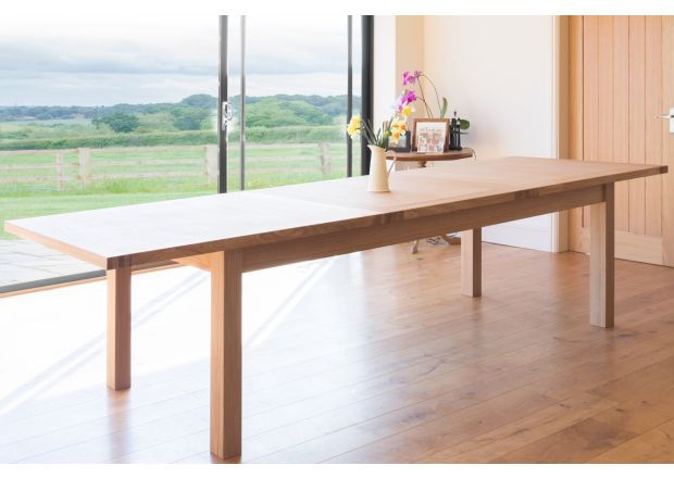 Tallinn 3.8m Large Oak Extending Table - PRICE CRUNCHED