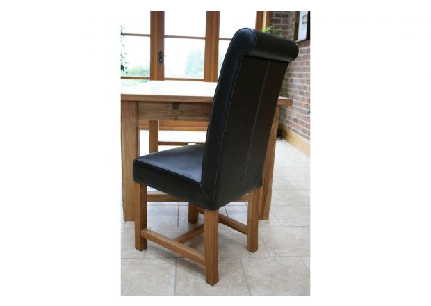 Titan Black Leather Dining Chair