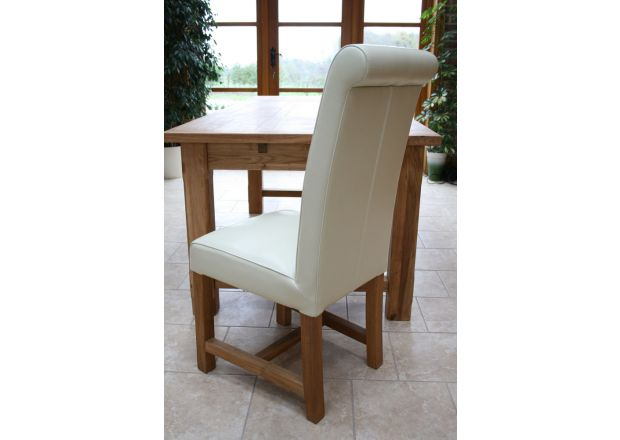 Titan Cream Leather Dining Chair