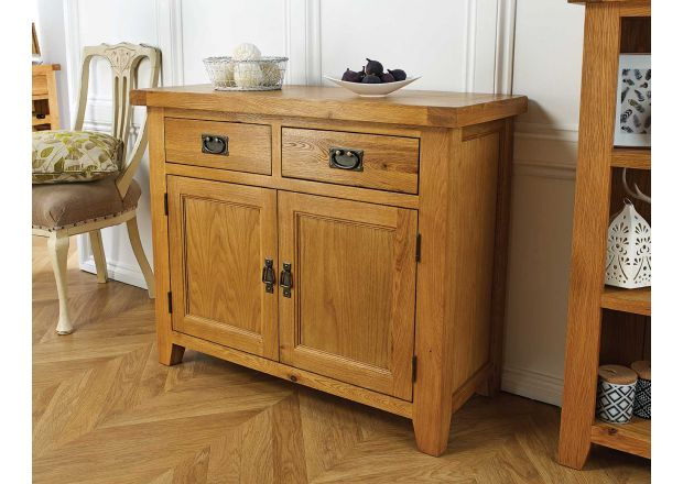 Country Oak 100cm Small Oak Sideboard - JANUARY SALE