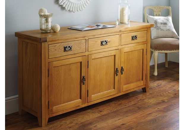 Country Oak 160cm Large Oak Sideboard