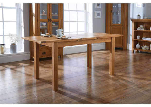 Country Oak 1.8m Extending Oak Dining Table