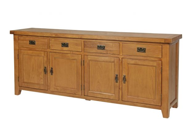 Large Country Oak Sideboard 200cm - PRICE CRUNCHED