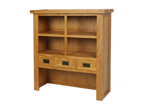 Country Oak Small 100cm Hutch for combining with Sideboard